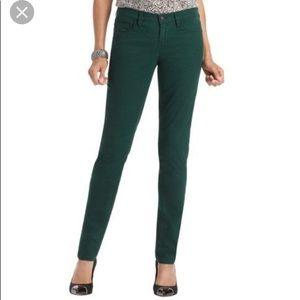 Loft modern skinny emerald green jean